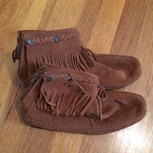 Minnetonka moccasin booties